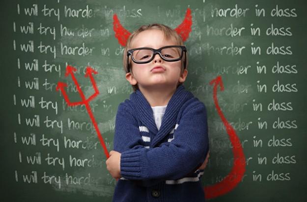 Evil genius child