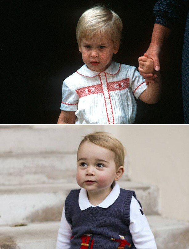 Royals as babies Prince George Prince William Kate Middleton