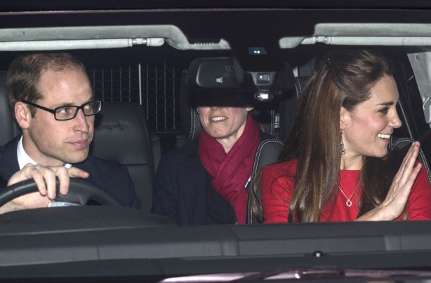 Prince William and Kate Middleton attend Christmas lunch at Buckingham Palace