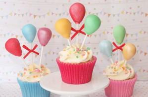 Balloon cake decorations