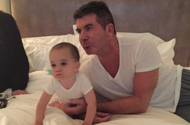 Simon Cowell and baby Eric