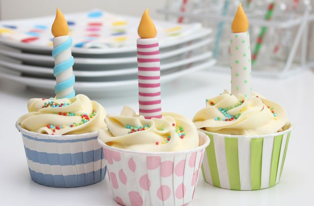 Birthday candle cake decorations