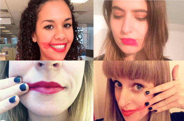 The life-saving truth behind these smeared lipstick selfies