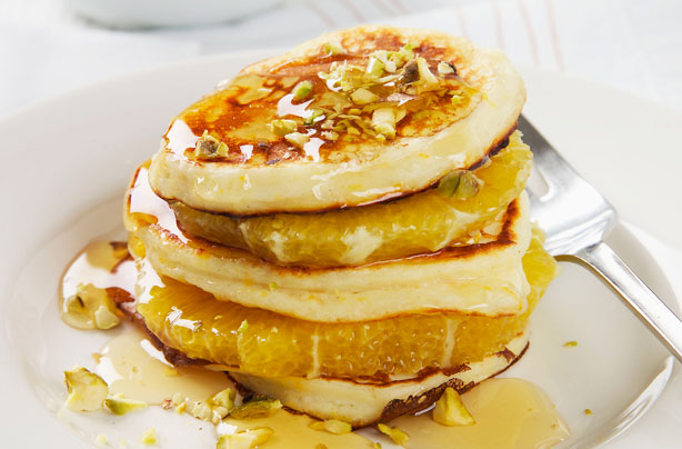 Orange ricotta pancakes recipe - goodtoknow