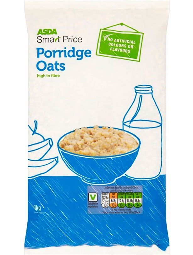 ASDA Smartprice Porridge Oats