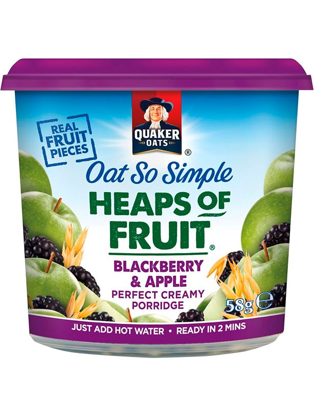 Quaker Oat So Simple Heaps of Fruit Blackberry & Apple