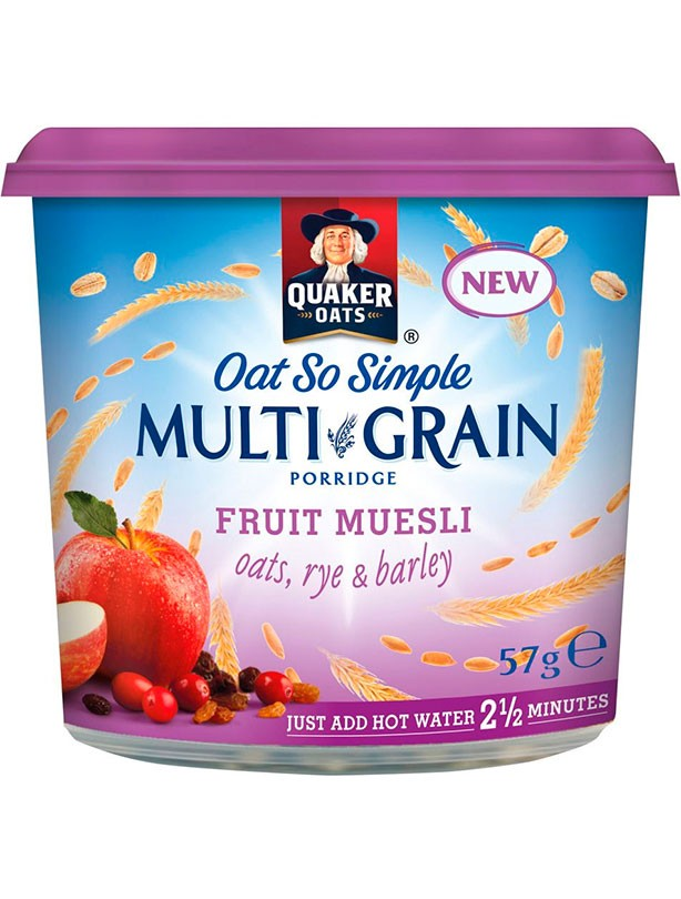 Quaker Oat So Simple Multigrain Porridge Fruit Muesli