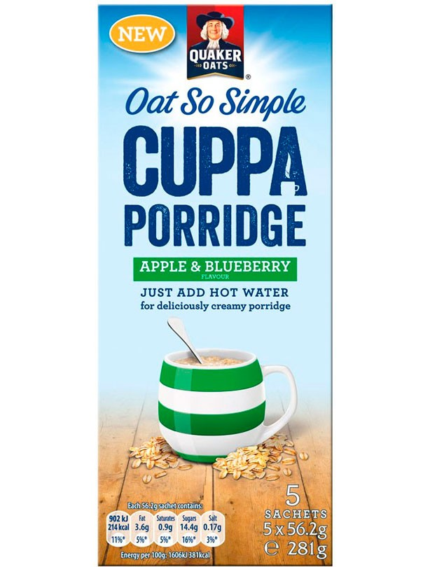 Quaker Oats So Simple Cuppa Porridge Apple & Blueberry