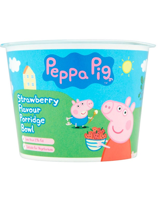 Peppa Pig Porridge Bowl Strawberry Flavour