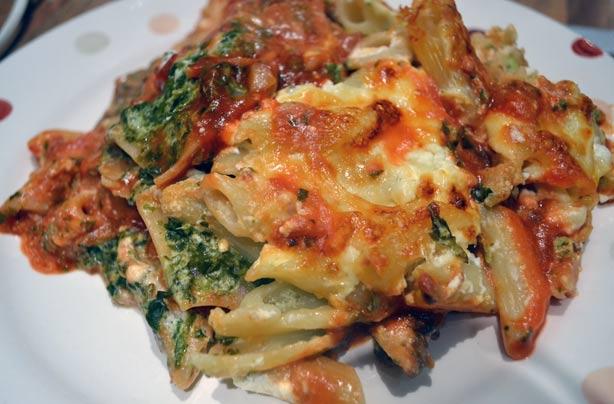 Spinach pasta bake recipe goodtoknow for Creamy spinach pasta bake