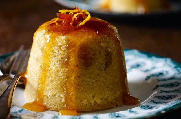 Marmalade and ginger steamed pudding