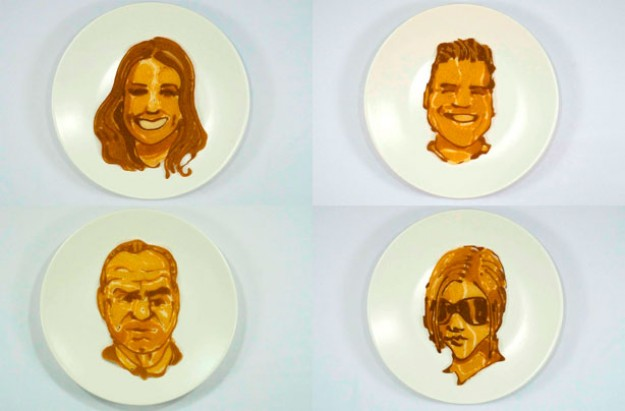 Celebrity pancake faces