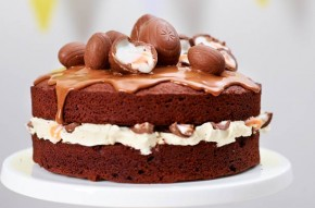 Chocolate Creme Egg cake