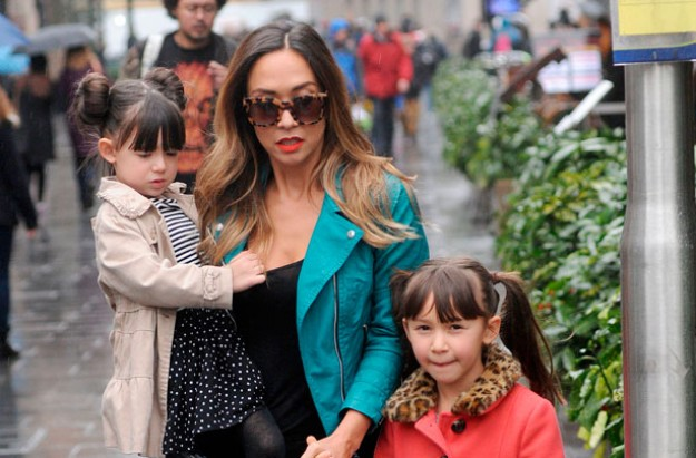 Myleene Klass and daughters Hero and Ava