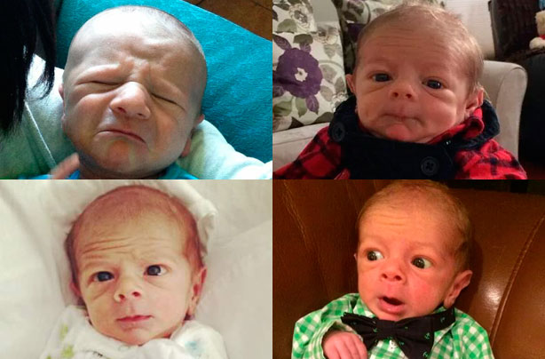 The adorable babies that look like old men