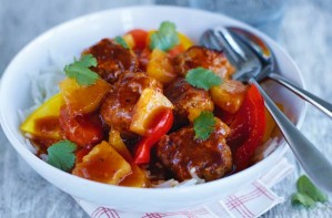 Sweet and sour sausage meatballs