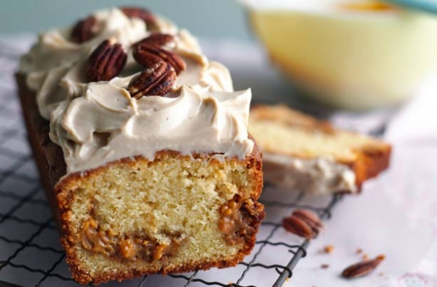 Caramel swirl loaf cake recipe goodtoknow for Cake recipe ideas uk