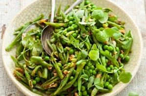Greens with miso dressing