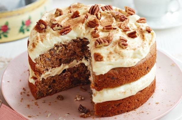 Sweet potato and pecan cake