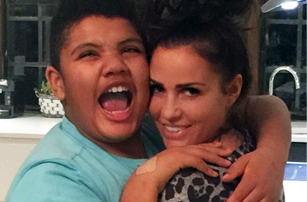 Katie Price proves Harvey's all grown up!