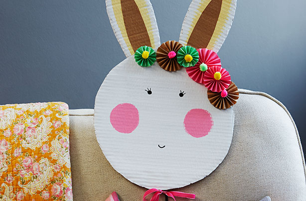 Make a giant rabbit mask!