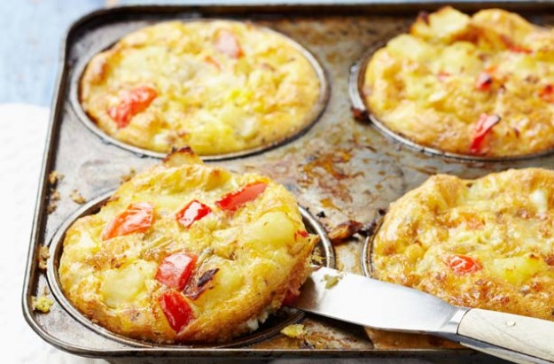 Potato and pepper frittatas