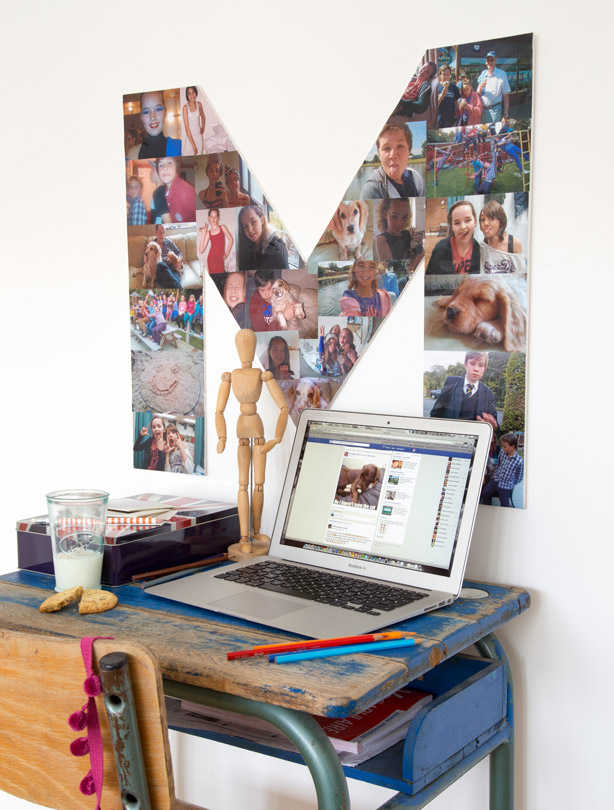 snap happy wall feature cheap kids bedroom ideas photo collage: cheap kids bedroom ideas