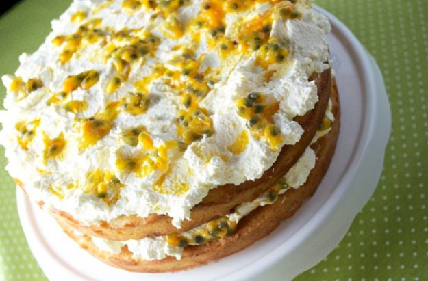 Passion fruit Victoria sandwich