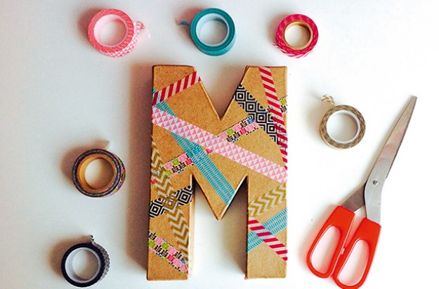 Essentials washi tape initial craft
