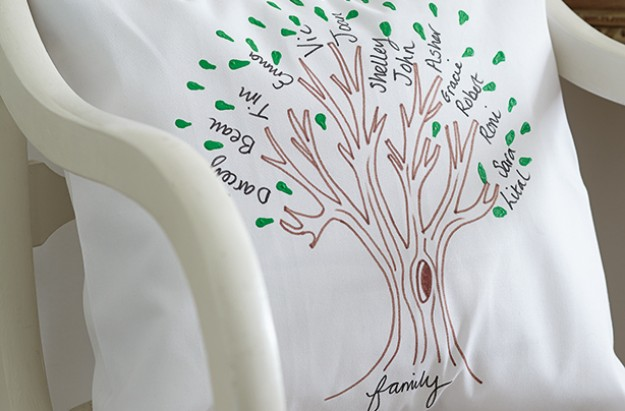 Essentials family tree cushion cover craft