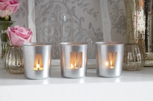 Essentials personalised tealight candle holder craft