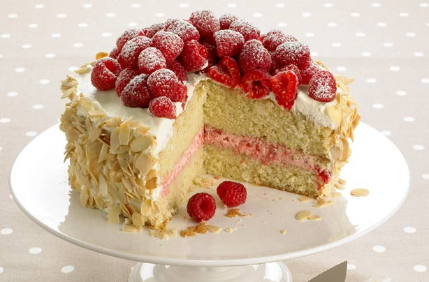 Woman's Weekly almond and raspberry sponge cake