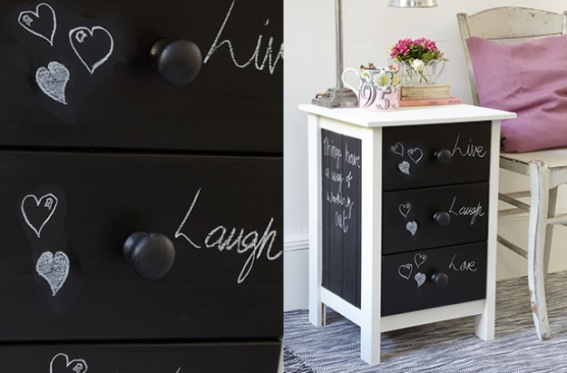 Essentials chalkboard drawers craft