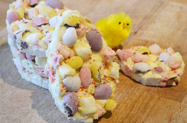 Rocky road Easter eggs