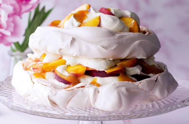 peach and passion fruit pavlova this showstopping pavlova is sure to ...