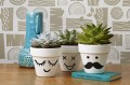 make these cute funny face flower pots