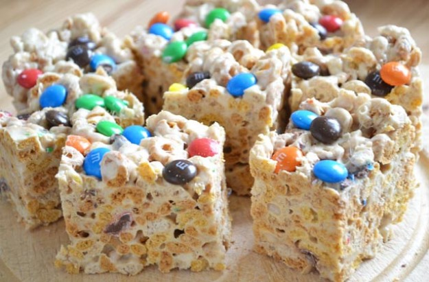 Cheerios and peanut butter bars
