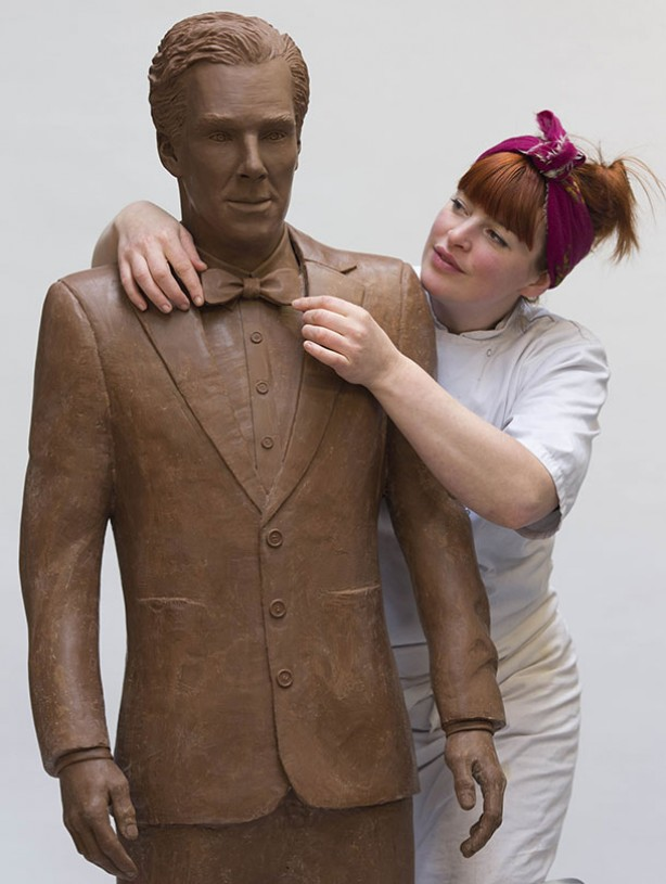 Benedict Cumberbatch in chocolate