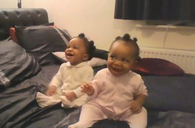 Twins dancing to Eastenders