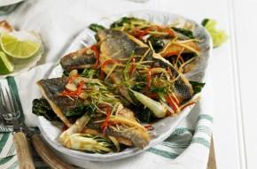 Crispy Asian sea bass