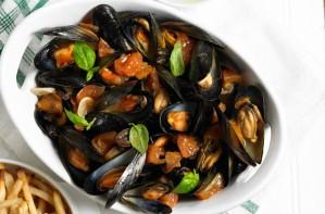 One-pot Italian-style mussels