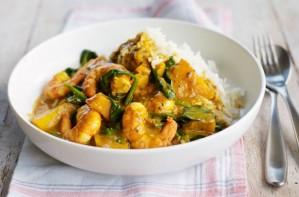 Prawn and squash curry
