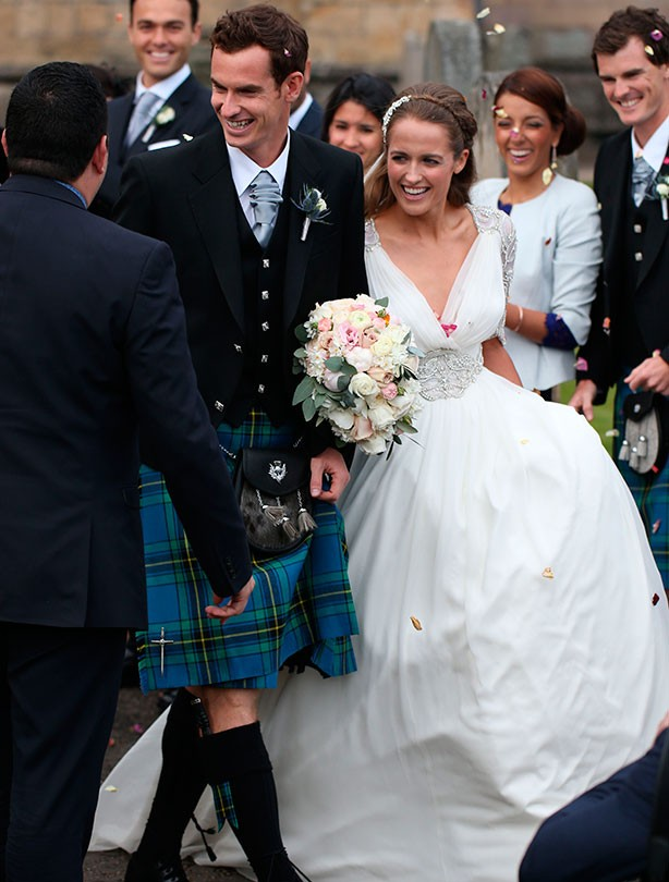 Andy Murray and Kim Sears marry