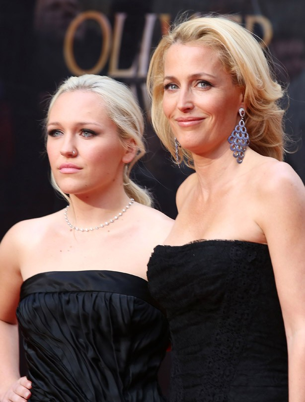 Gillian Anderson and her daughter Piper