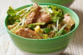 Lemon chicken and rice stir-fry