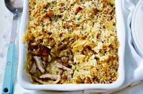 Slow-cooked cheesy chicken bake