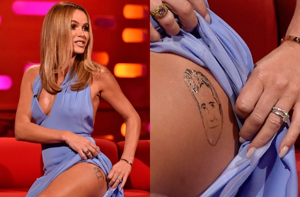 Amanda Holden Simon Cowell tattoo