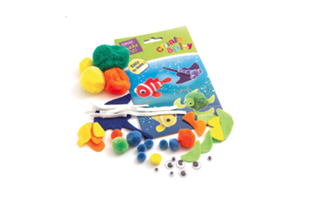 Pom pom fish craft set