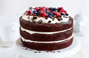 Gluten free and egg free chocolate layer cake