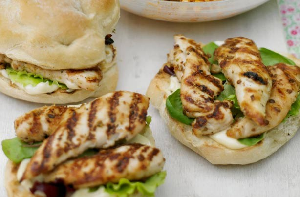 Lime and coriander chicken burgers